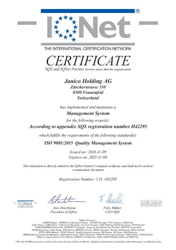 Plica SQS Certificate